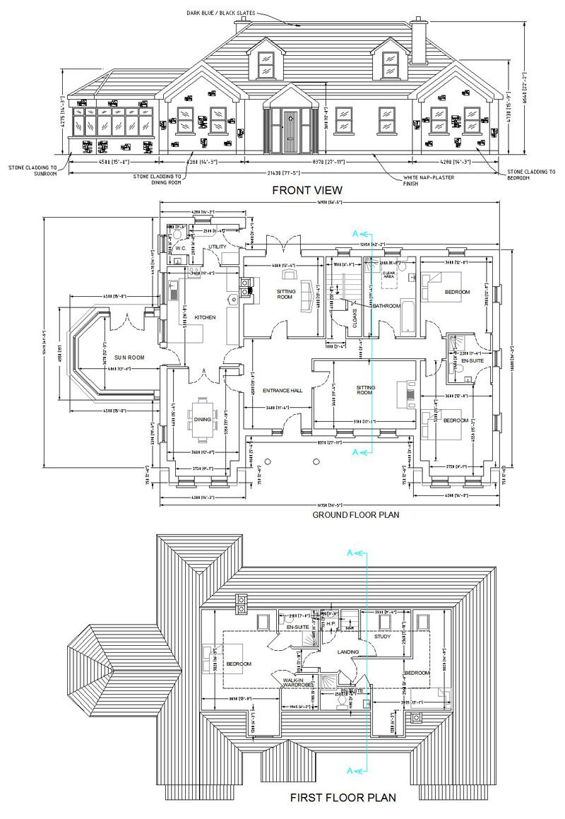 Nobby Design 5 House Plans Ireland Two Storey View And A Half