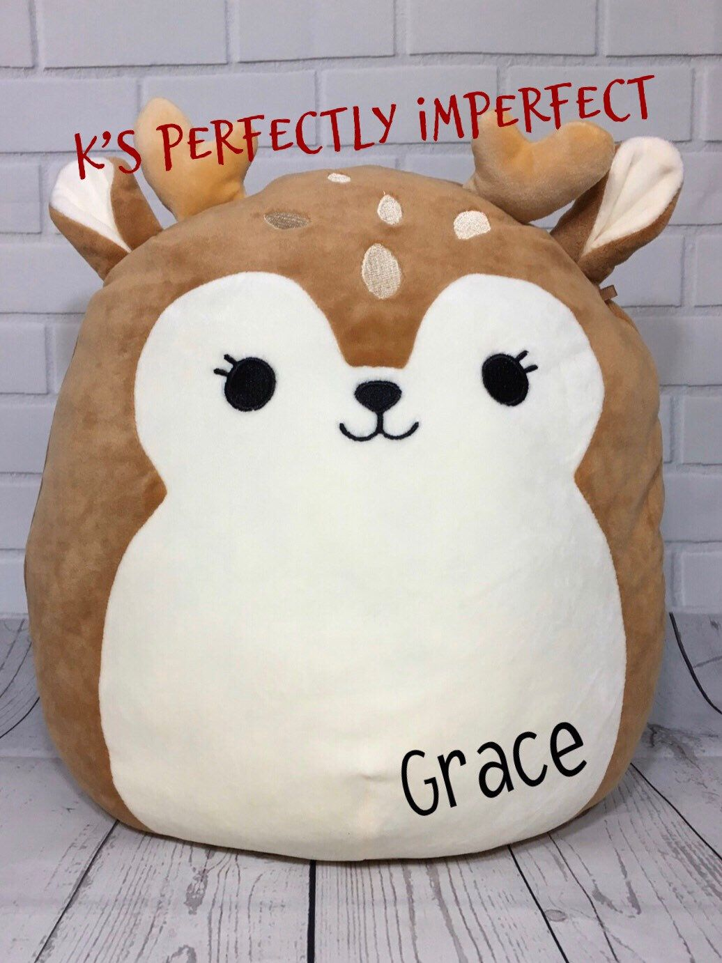 Deer Plush Personalized Deer Deer Pillow Cute Deer Etsy Animal Pillows Personalized Stuffed Animals Giraffe Stuffed Animal