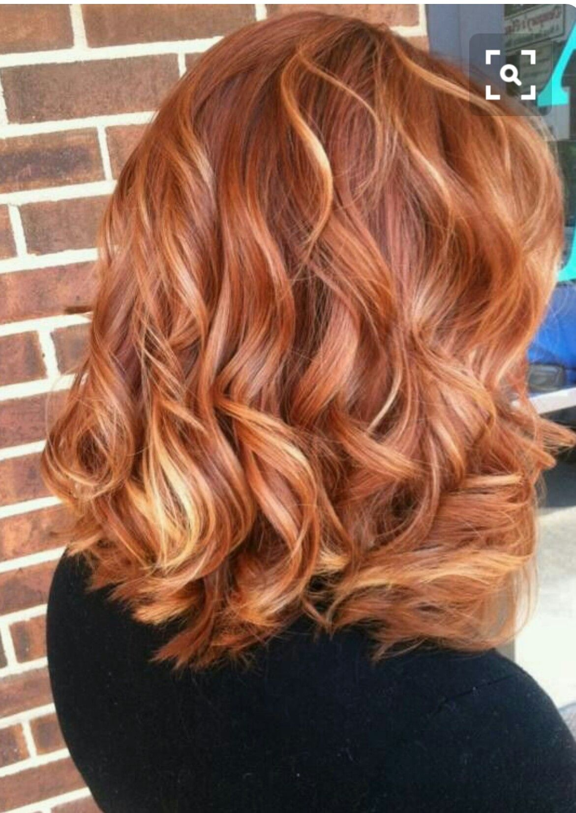 Lovely Reddish Blonde Hair Color