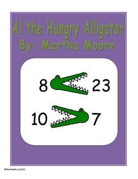 Al The Hungry Alligator Greater Than Less Than Rhyme Common Core Math Kindergarten Elementary School Life Math For Kids