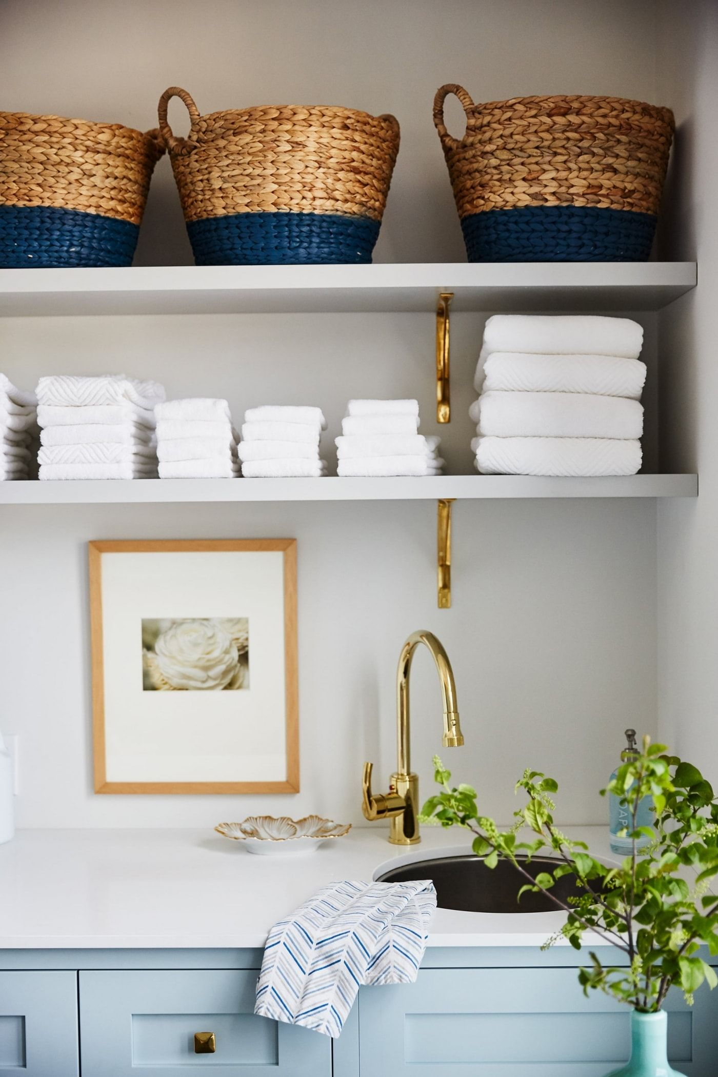 Get the Look Blue Modern Farmhouse Laundry Room