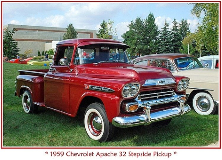 1959 Chevy Apache 32 Series Coral Bronze Stepside Pickup Classic