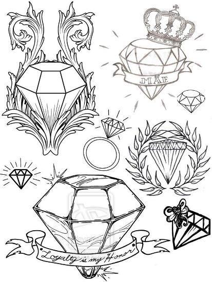 Tatuagem De Diamante Desenhos Diferentes Risunki Eskiz Idei
