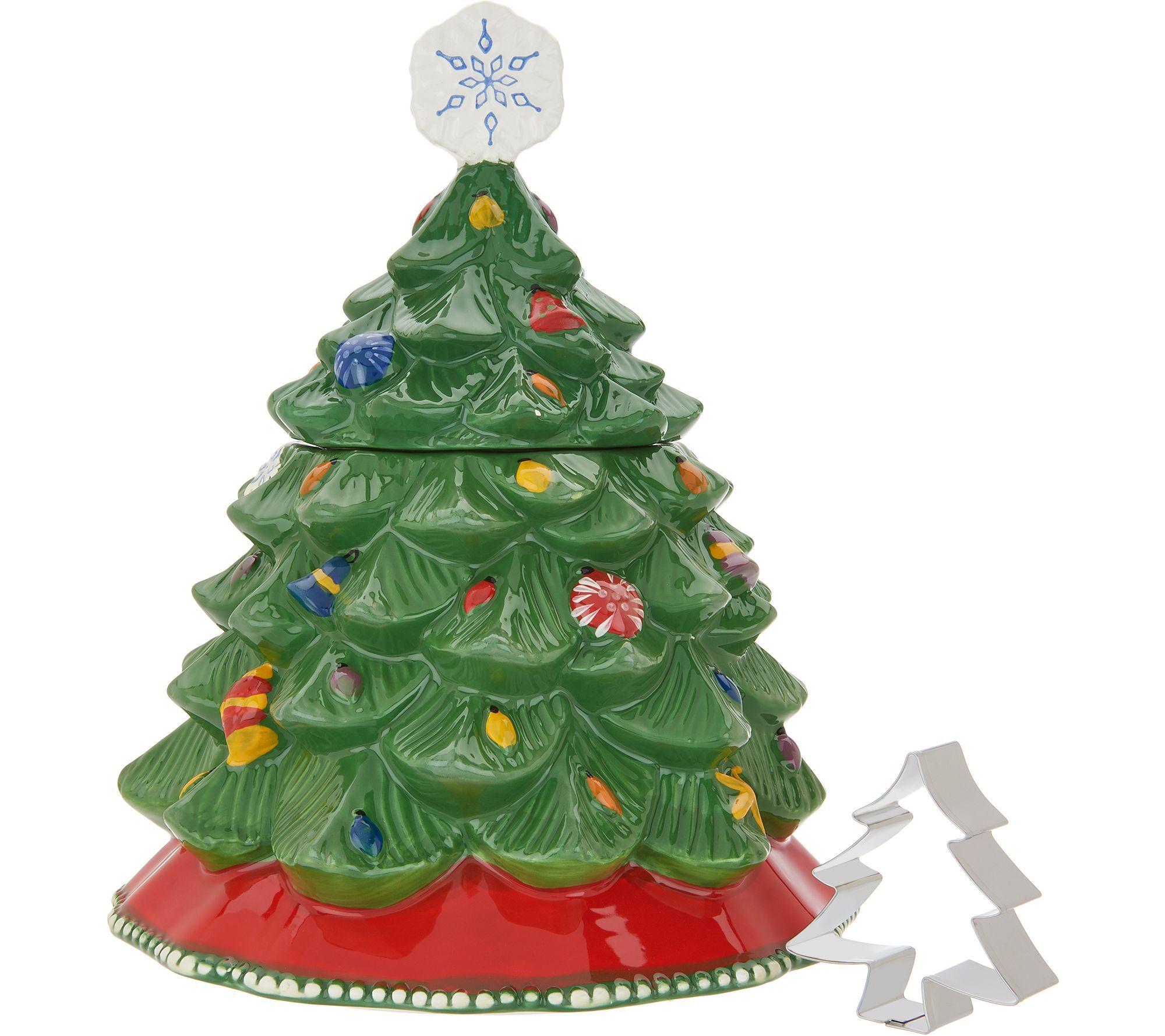 Temp Tations Christmas Tree Cookie Jar Qvc Com Green Christmas Tree Christmas Tree Christmas Tree Cookies