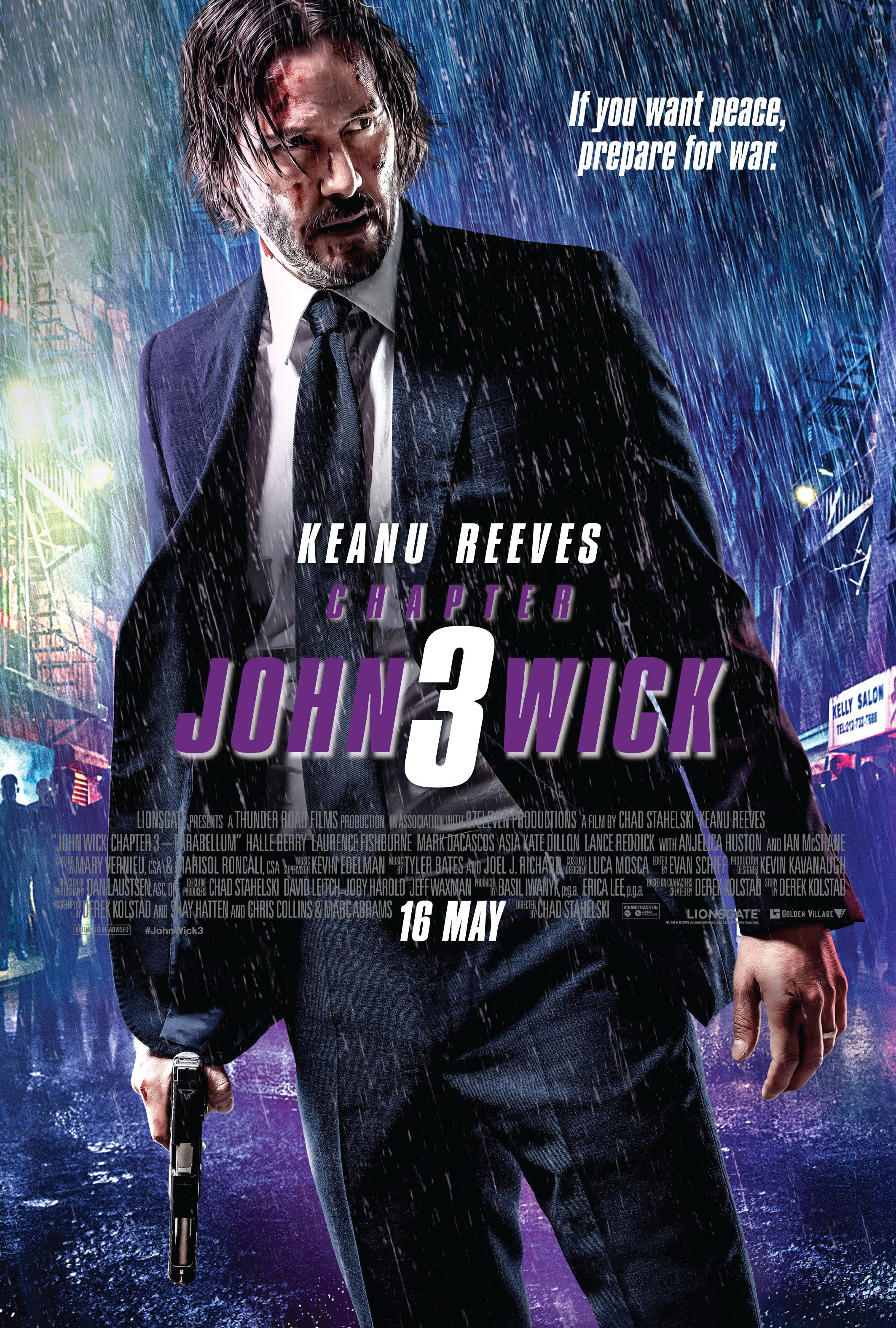 John Wick: Chapter 3 — Parabellum (2019) – Review | John wick movie, Keanu  reeves, New movie posters