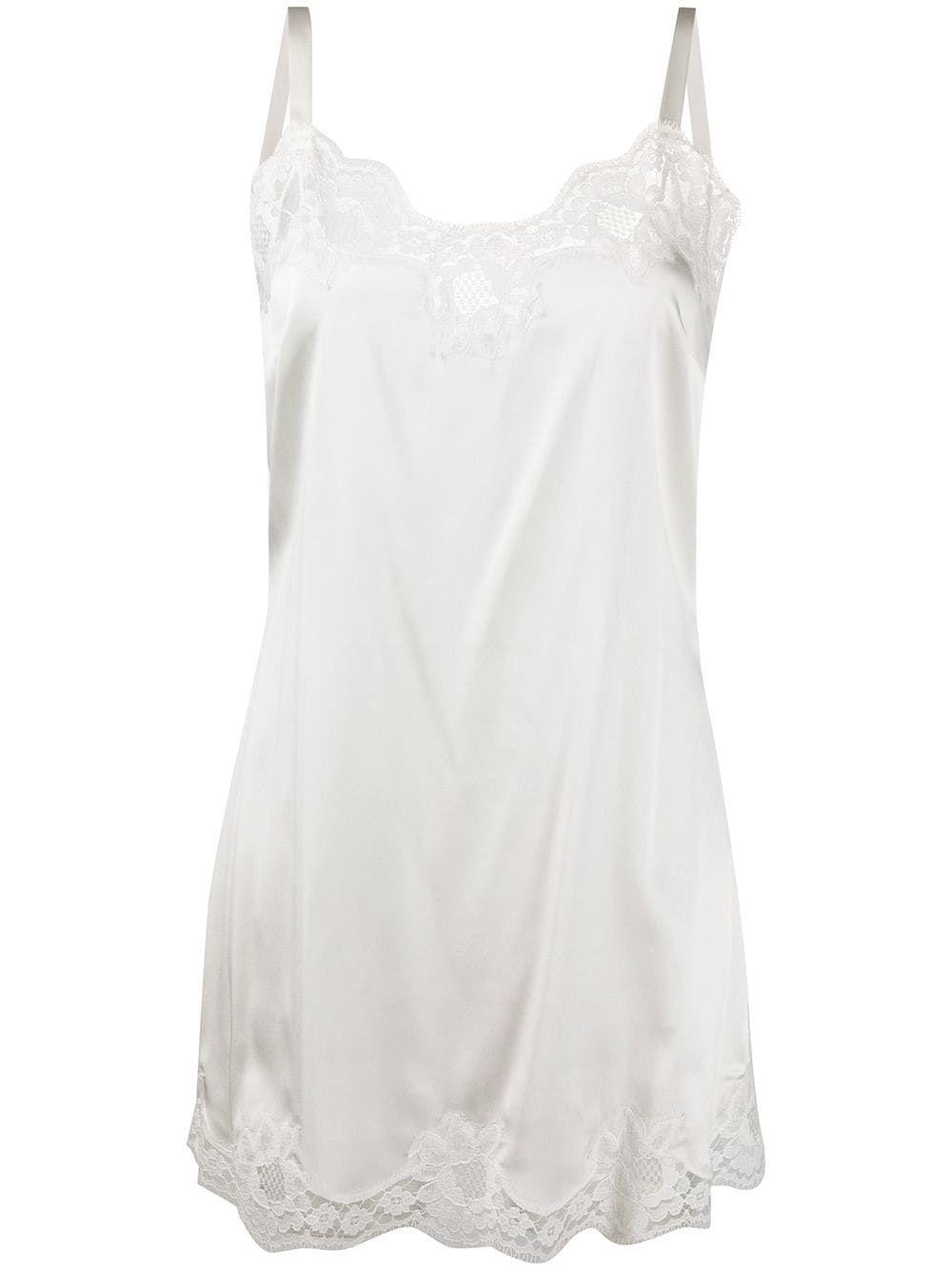 Dolce Gabbana Lace Detail Slip Dress Farfetch In 2021 White Slip Dress Slip Dress Clothes Design [ 1334 x 1000 Pixel ]