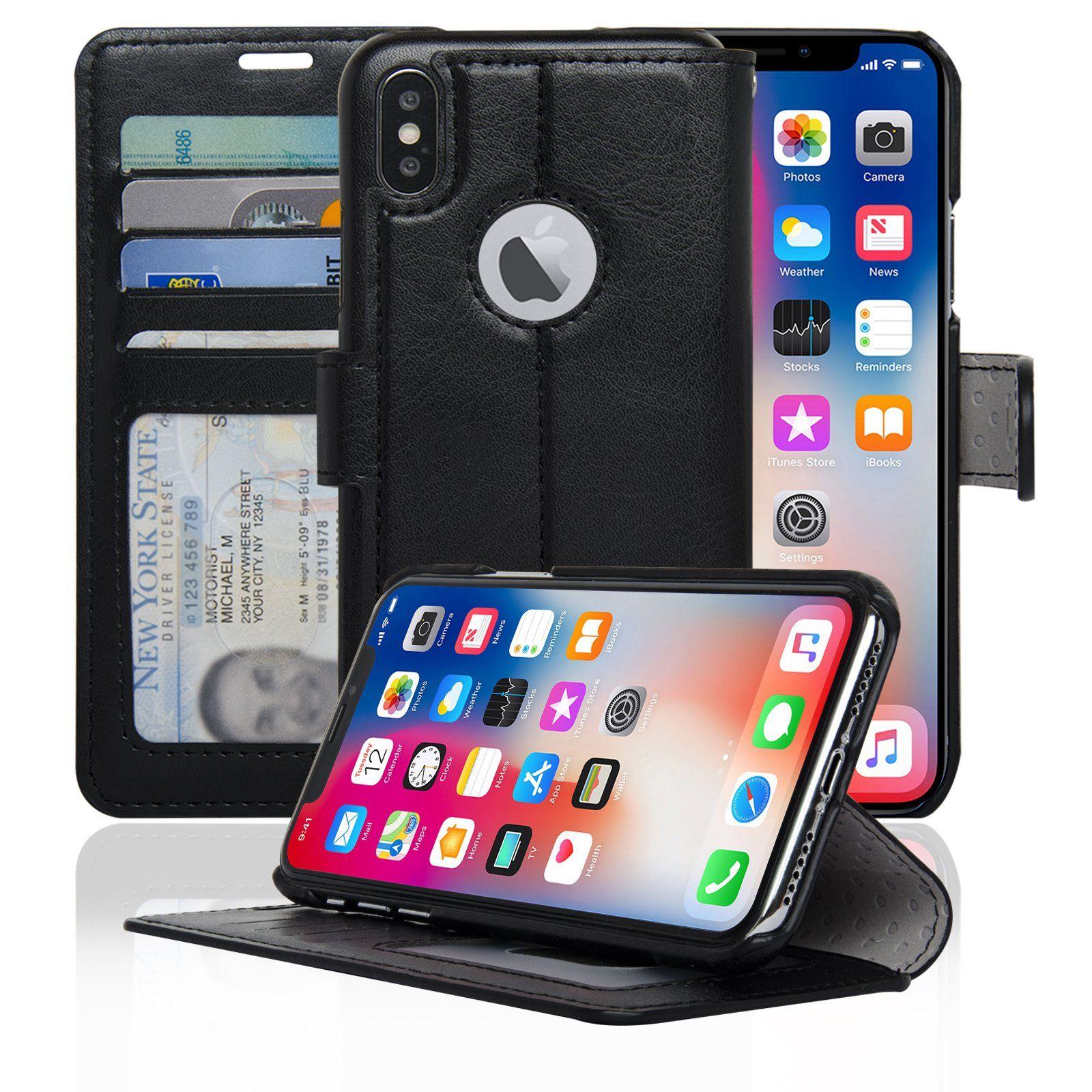 NAVOR Slim & Light Wallet Premium Case Protective Flip