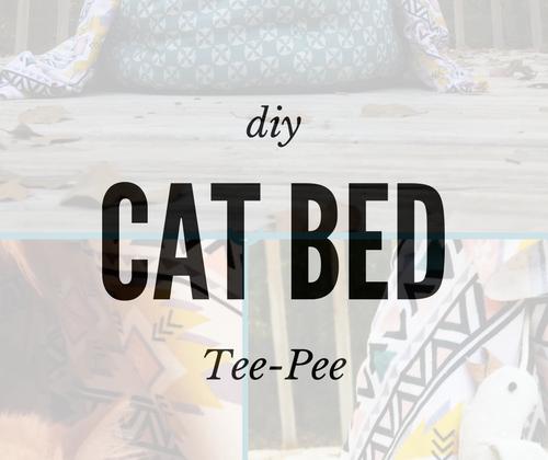DIY Cat Bed TeePee Diy cat bed, Cat bed, Cat diy