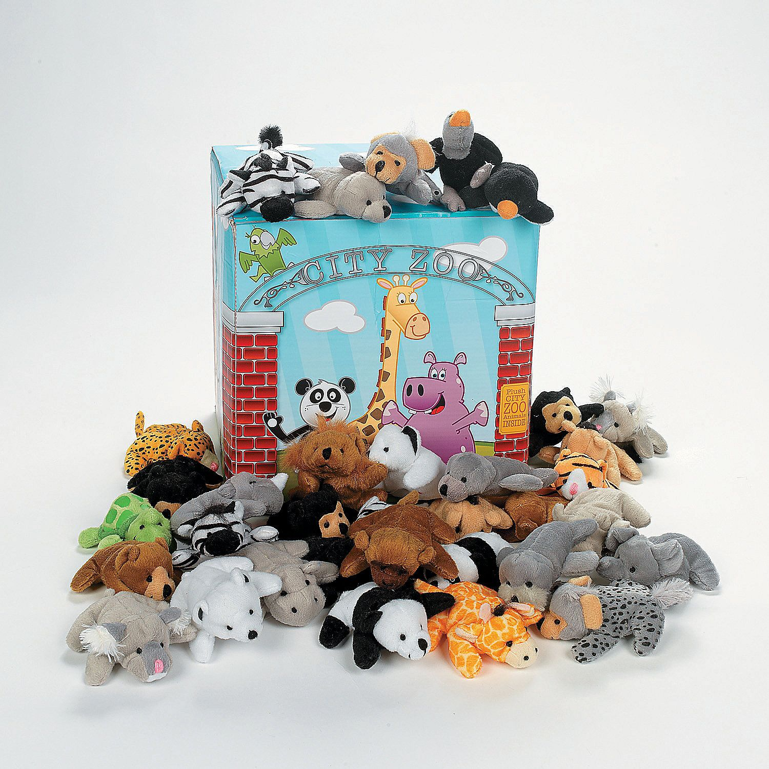 Mini Zoo Stuffed Animal Assortment 50 Pc (With images