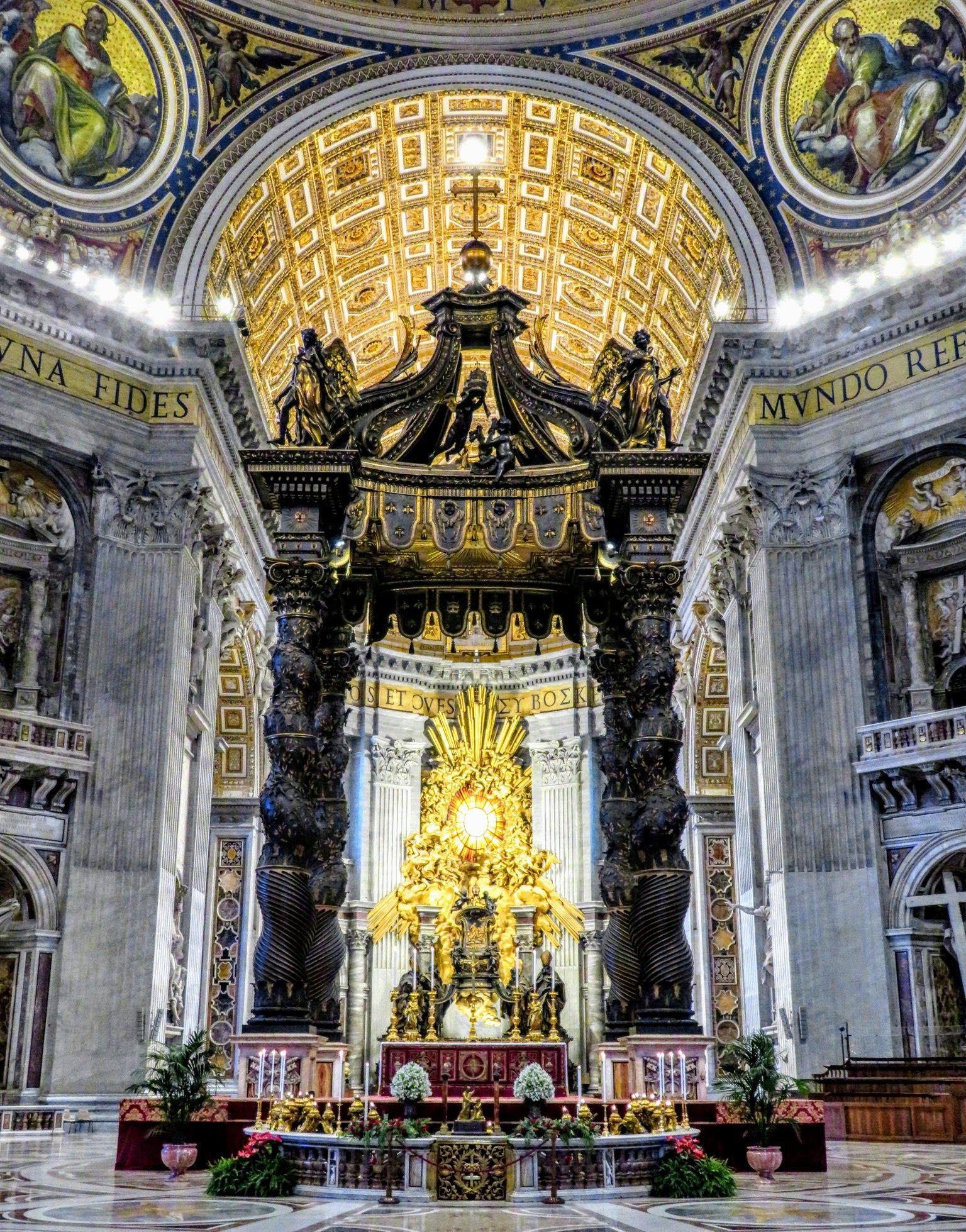 Walking Tours Of Rome St Peters Basilica Rome Bernini