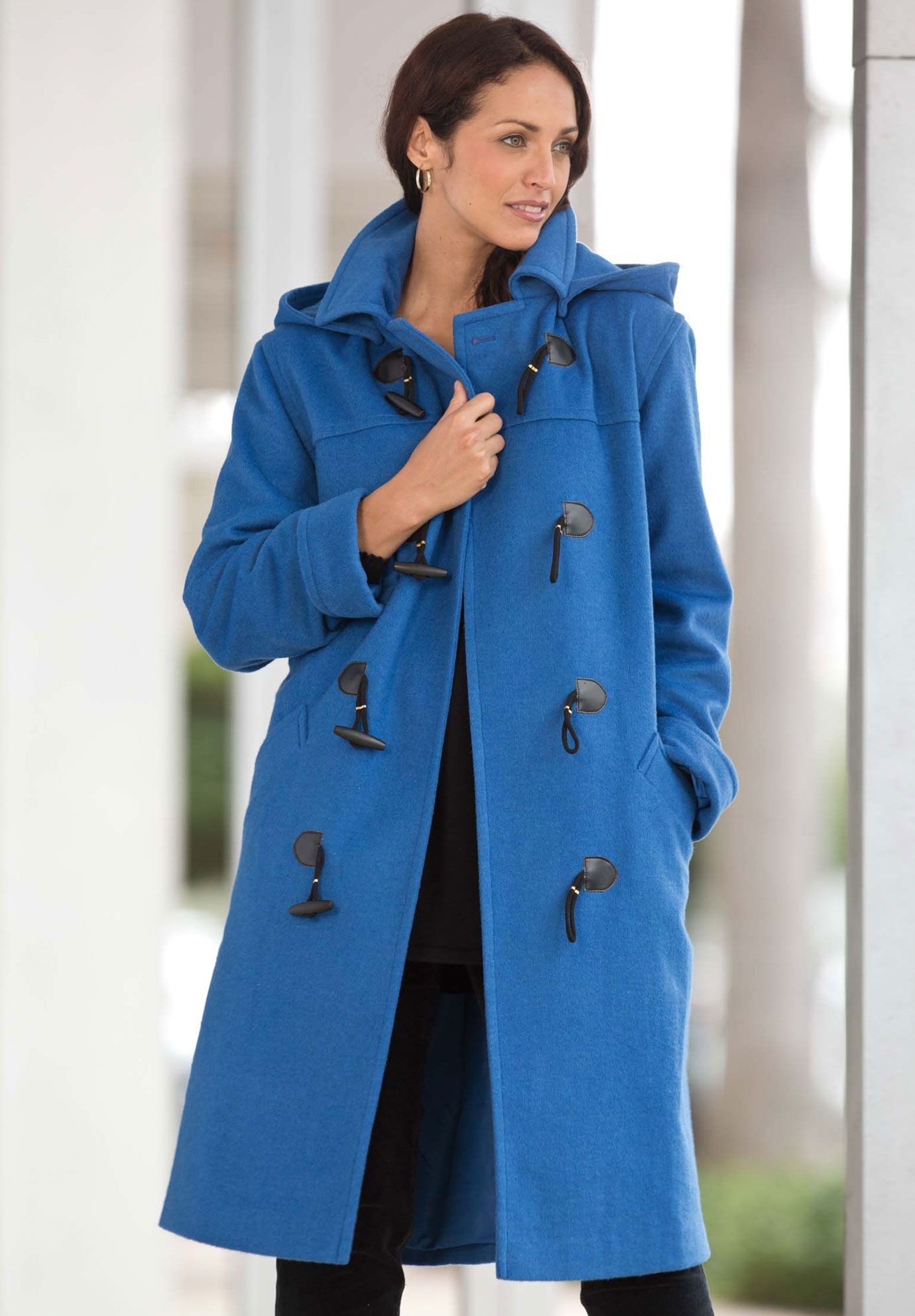 492f2abcca70e Wool-Blend Toggle Coat