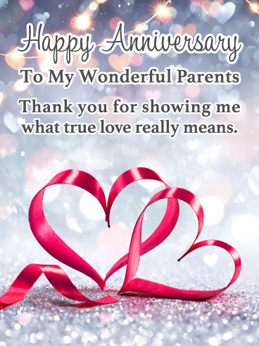True Love Happy Anniversary Card For Parents Birthday Greeting Cards By Davia Anniversary Card For Parents Anniversary Wishes For Friends Happy Anniversary Cards