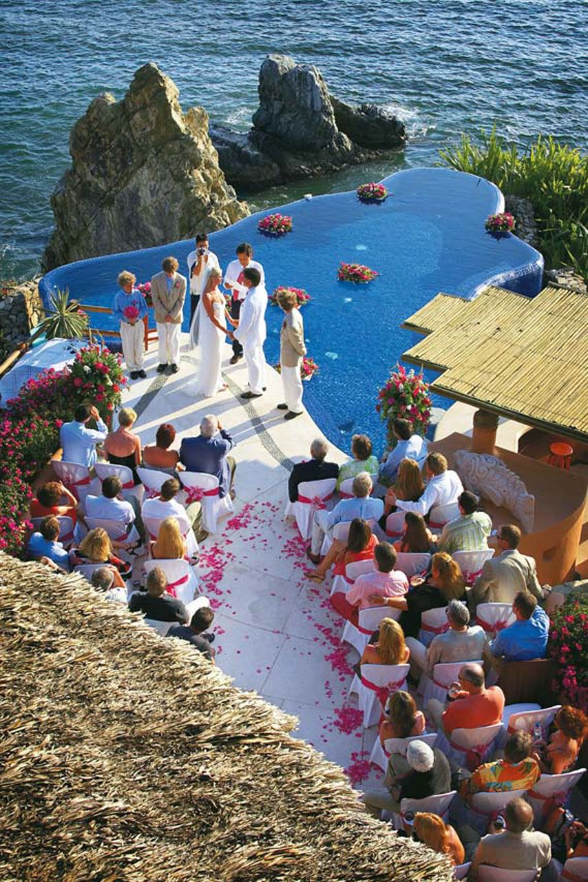Beautiful location for a wedding ceremony! El Murmullo in Zihuatenejo, Mexico.