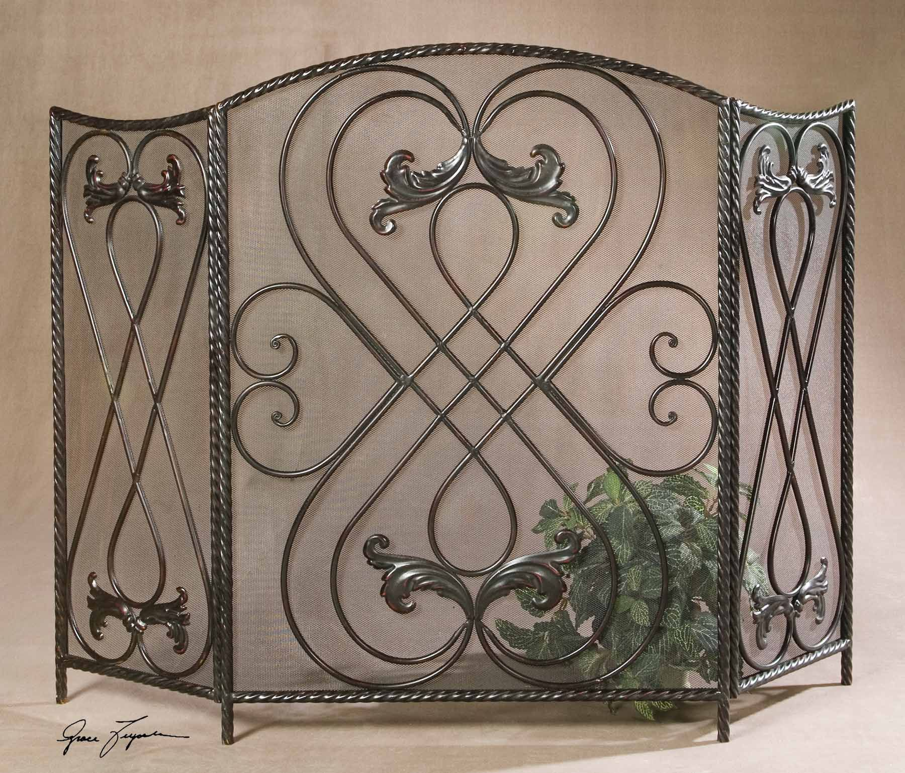 uttermost effie metal fireplace screen 20960 uttermost pinterest