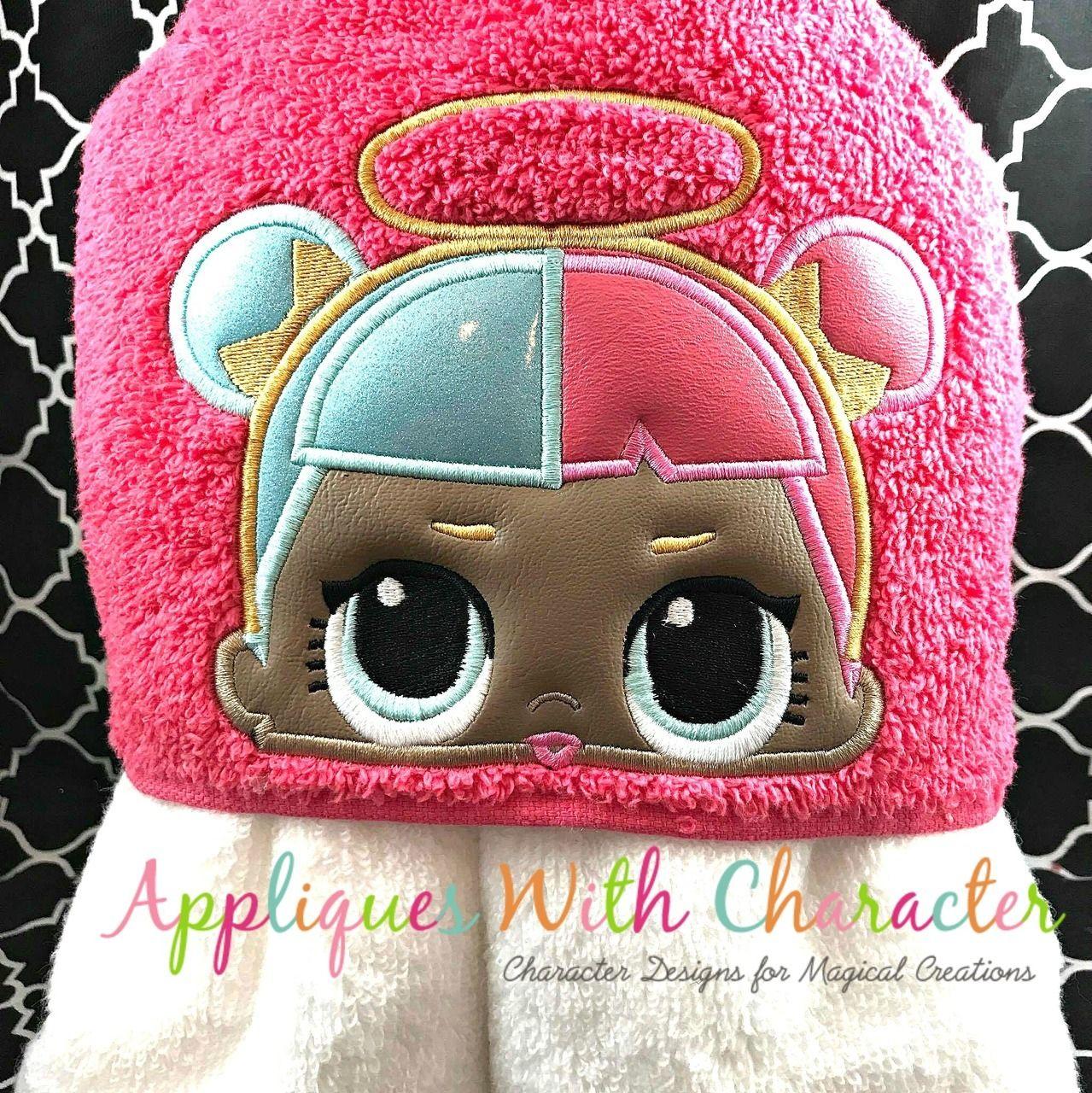 LOL Sugar Doll Peeker Applique Design