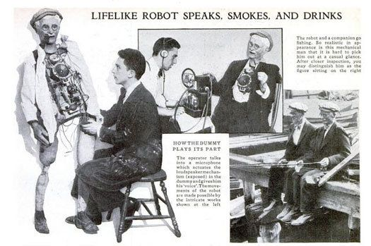 Mechanical Man Sings, Smokes and Drinks: October 1935