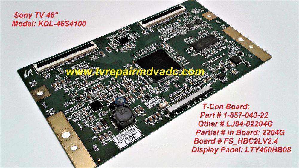 SONY KDL-40Z4100   REPAIR SERVICE SONY  T-CON BOARD  55.40T02.C06