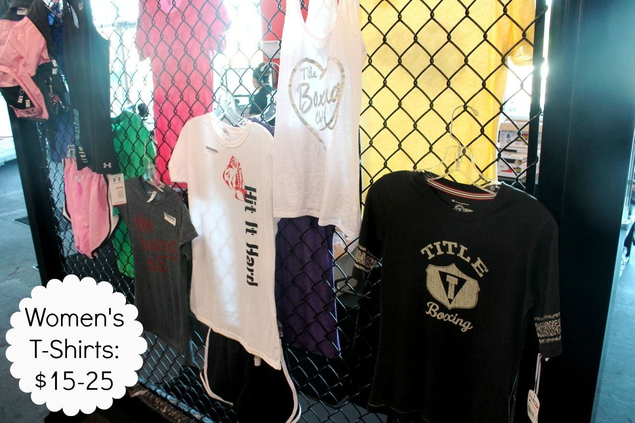 Women's t-shirts and tanks from $15-25.