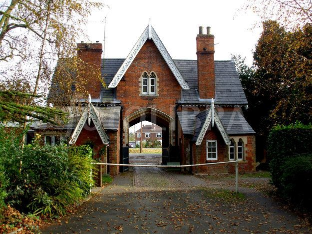 Victorian Gothic brick lodge gatehouse Houses