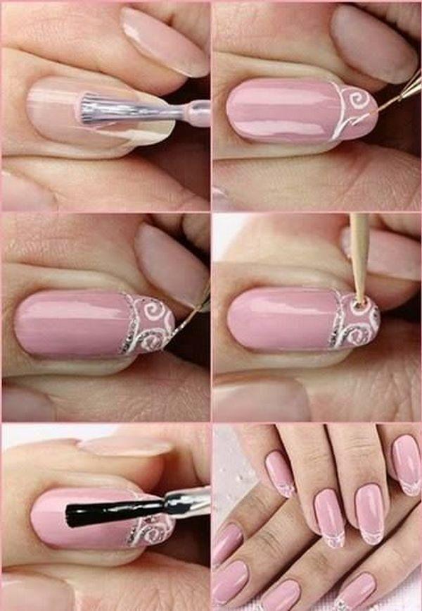 decoracion de uñas rosa   NAILS   Pinterest   Decoración de uñas ...