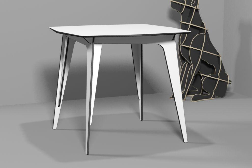 TETRA  TABLE (HPL) / CNC ROUTER  /  3D DESIGN  유창석 / www.joinxstudio.com