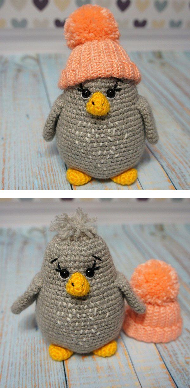 Baby penguin amigurumi pattern | Pinguin häkeln, Pinguine und Häkeln