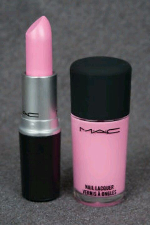 mac: saint german... it's such a sexy, soft pink! my hairdresser had this on and i loved it so much i went and bought it that day