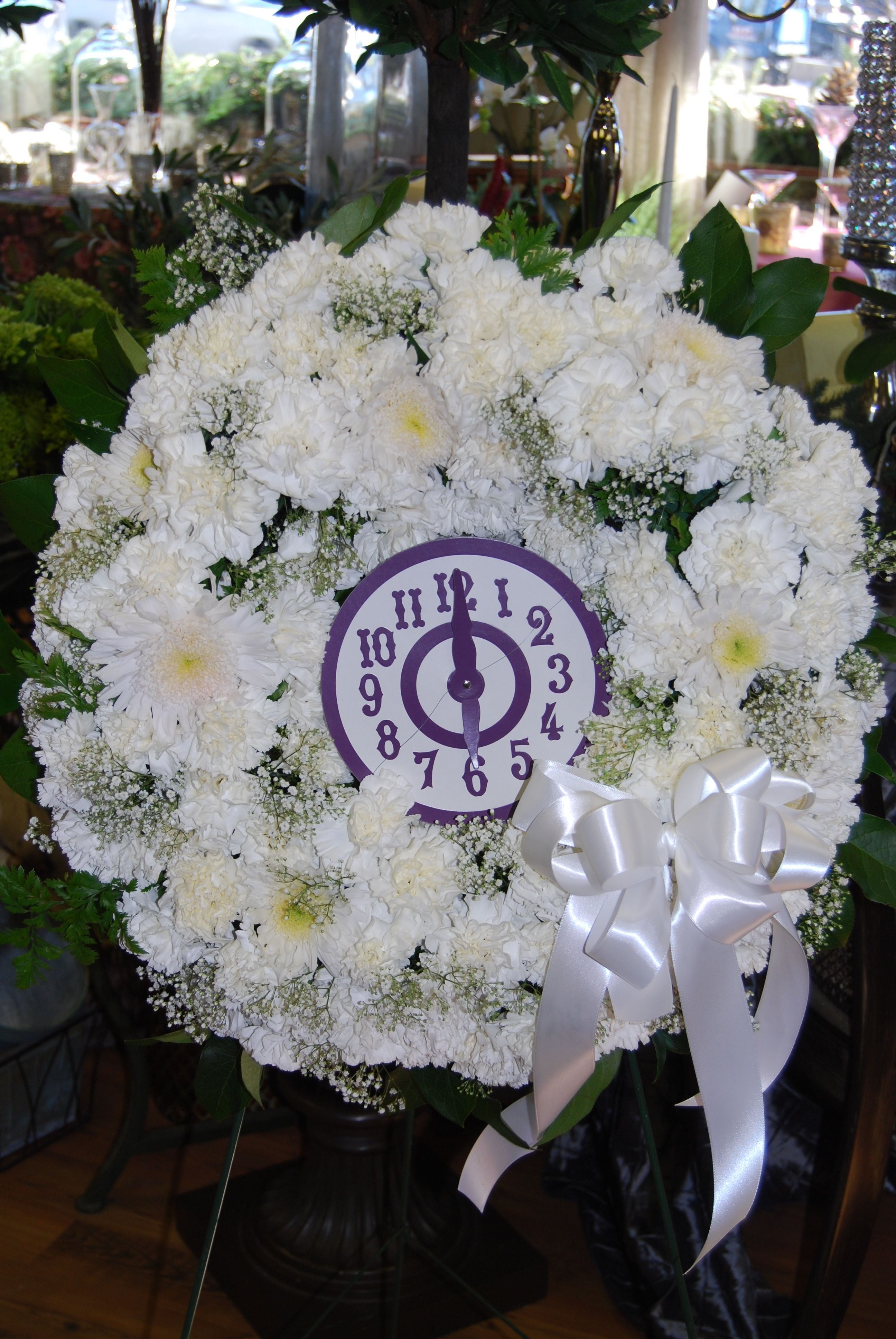 Gypsy funeral time of death clock flower arrangement sympathy gypsy funeral time of death clock flower arrangement gypsy clock death sympathy flowers izmirmasajfo