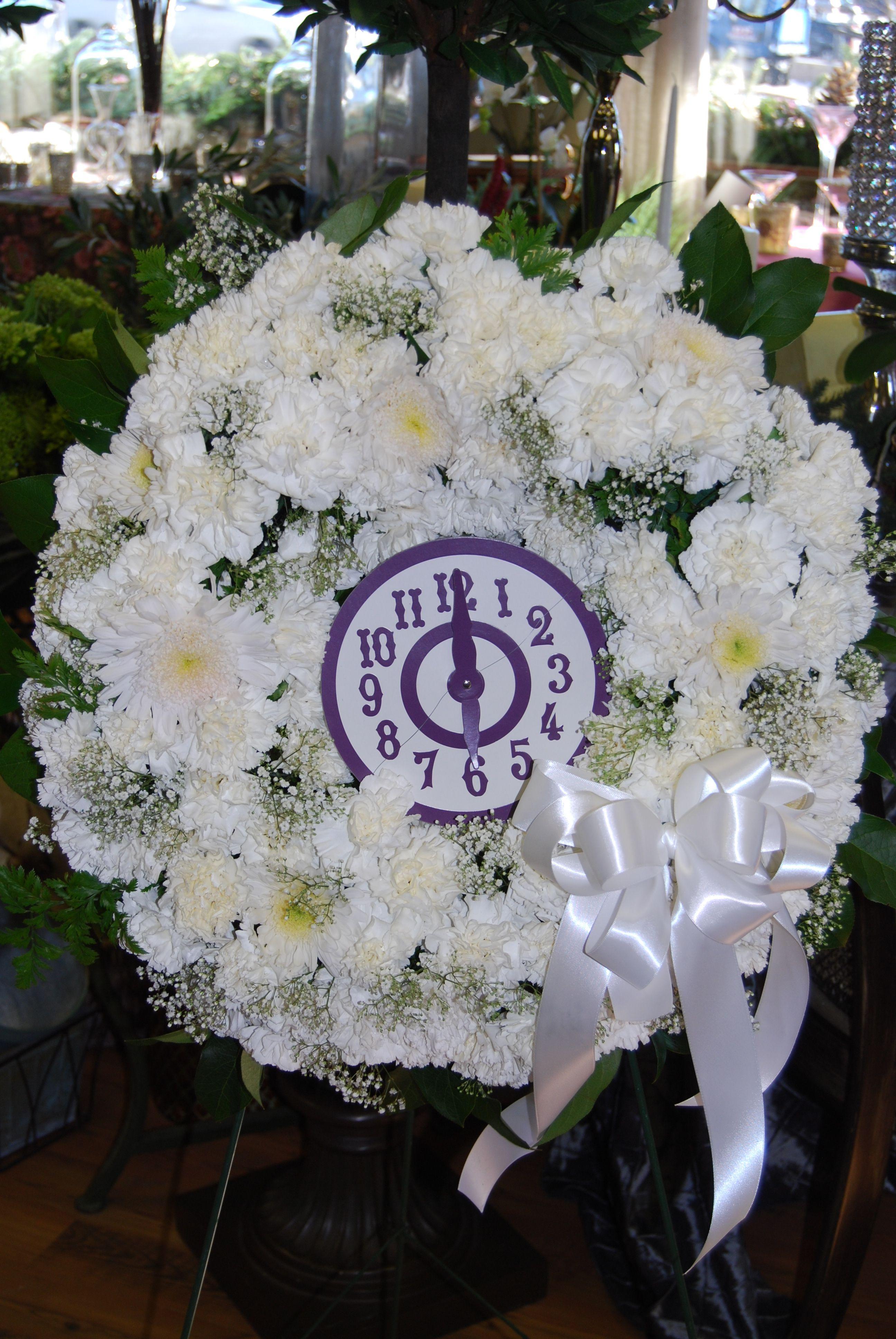 Gypsy funeral time of death clock flower arrangement sympathy gypsy funeral time of death clock flower arrangement mightylinksfo
