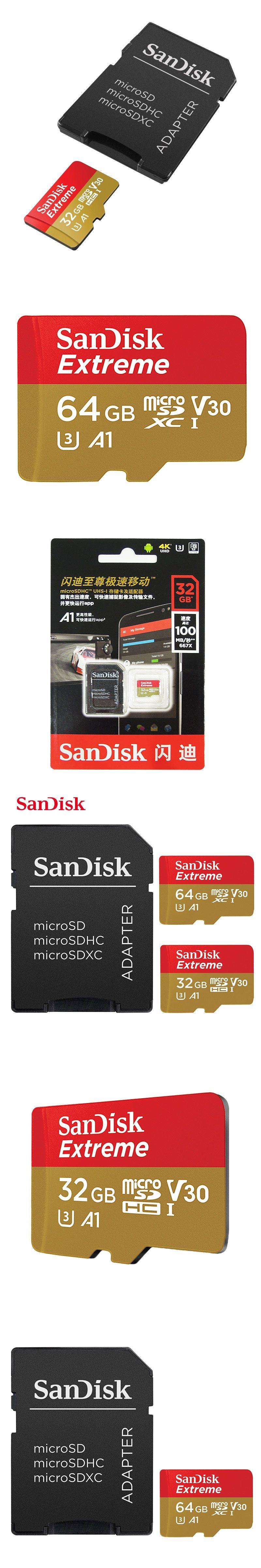 Sandisk Extreme Micro Sd Card 64gb Microsdxc U3 32gb Microsdhc Class 10 Class10 V30 100mb S Tf