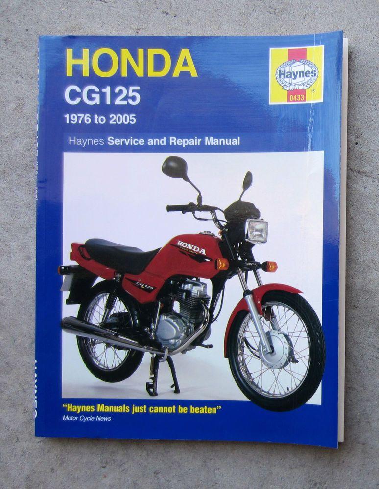 honda cg125 service manual