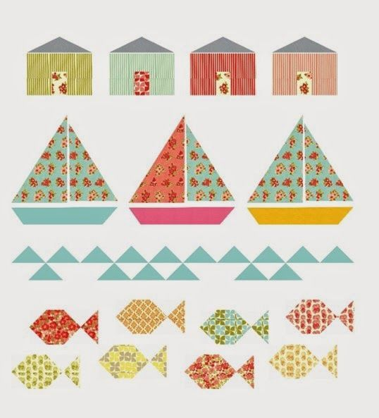 Pretty Little Quilts: Summer Beach Quilt Tutorial (free pattern)