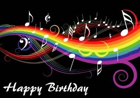 Happy Birthday Musical Rainbow O K For Man With Images