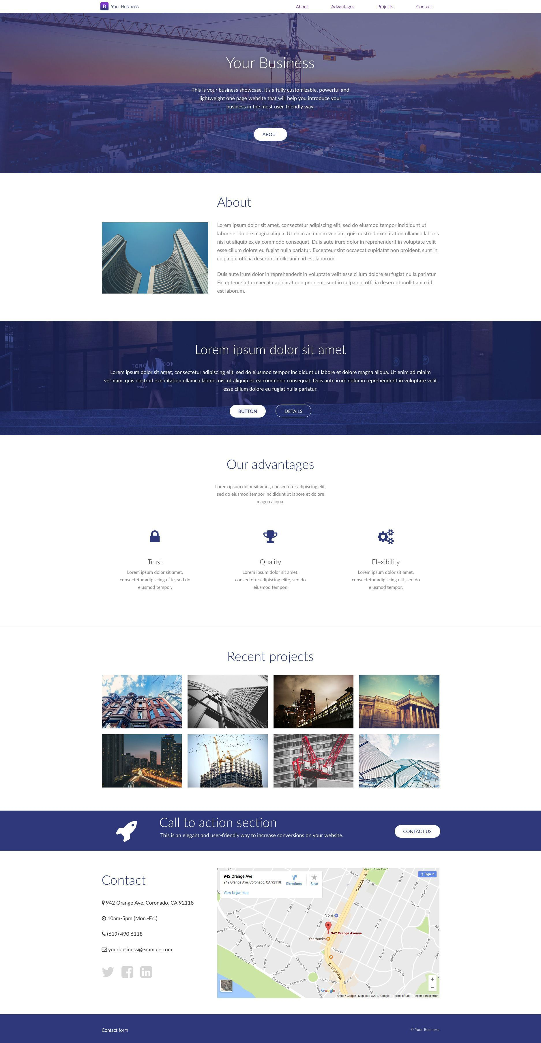 Your business is a free html5 one page website template which comes your business is a free html5 one page website template which comes with two different color friedricerecipe Images
