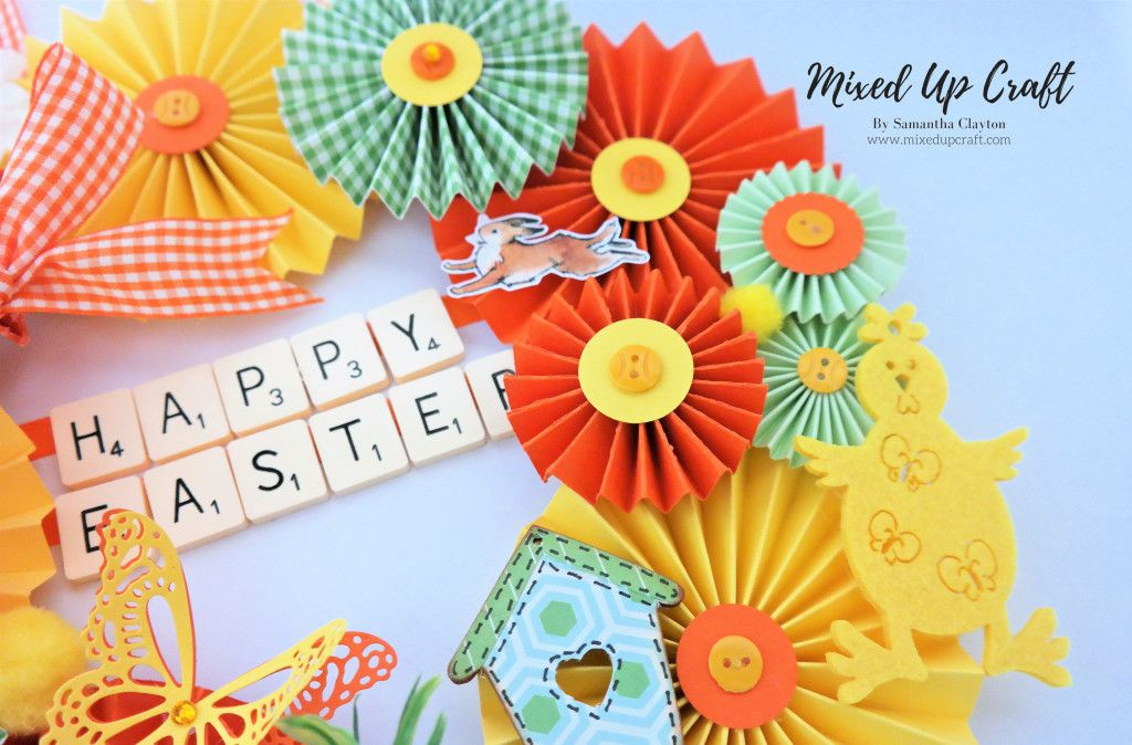 Easter rosette wreath paper wreath diy paper wreath