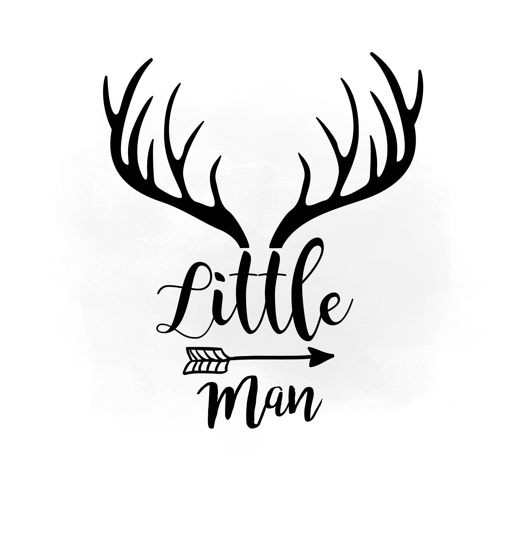Little Man svg clipart, Antler hornes SVG, Boho Antlers