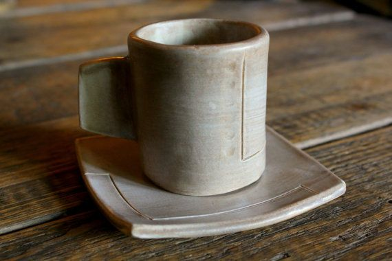 Crave Breakfast Ware: Modern, Handmade Espresso Cup And Saucer