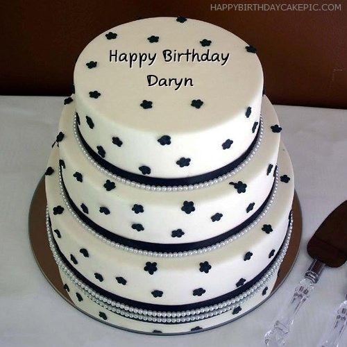 Daryn Happy Birthday Layered Birthday Cake For Daryn Friends