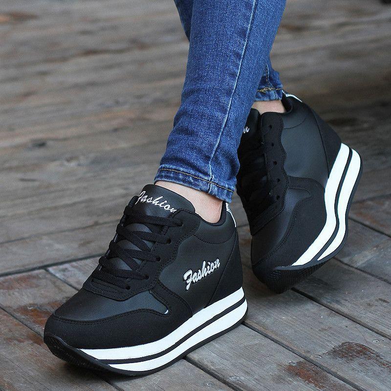 zapatillas negras nike mujer plataforma