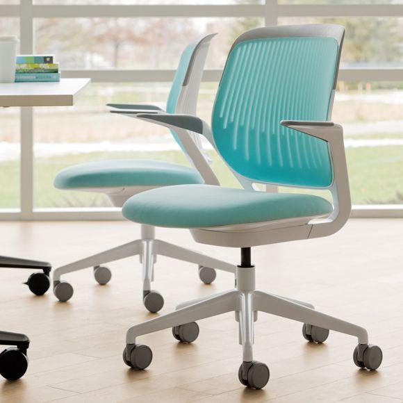 Aqua Cobi Desk Chair Modern Office Furniture Poppin