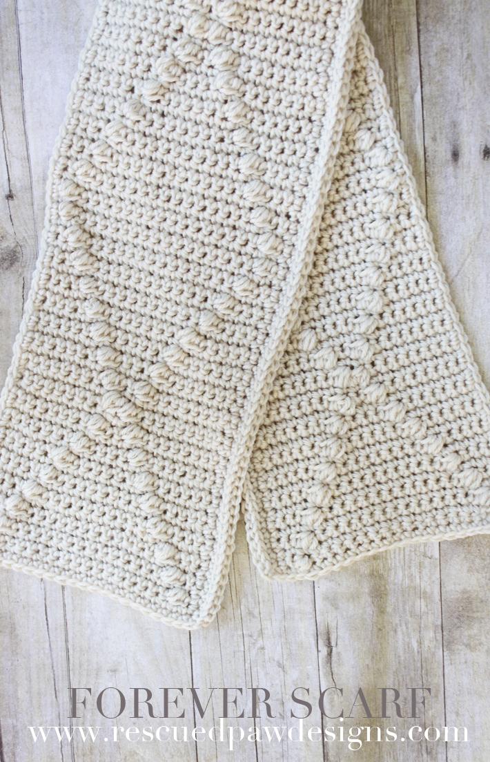 Forever Scarf - Crochet Pattern | Crochet bufanda y Cobija