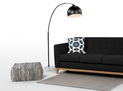 Bow grote staande lamp matzwart en marmer ideas for the house in