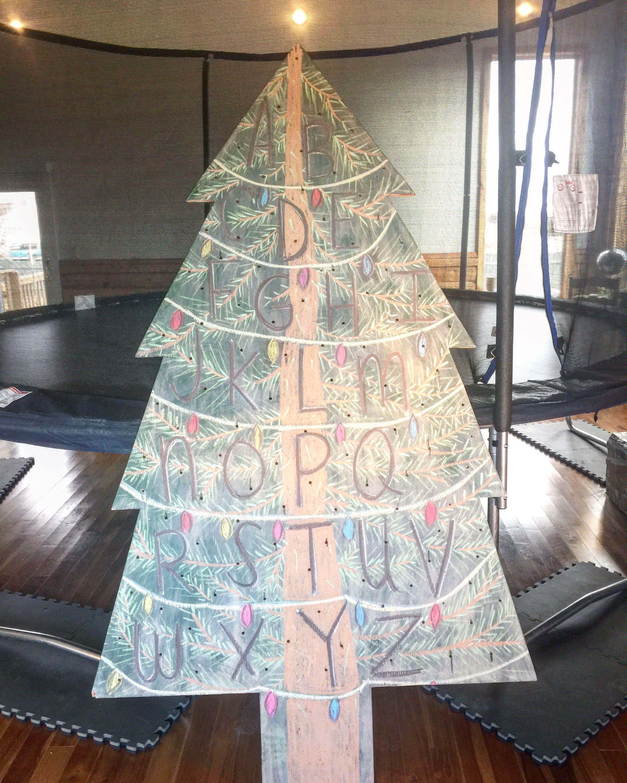 Stranger Things Christmas Tree chalkboard Pinterest