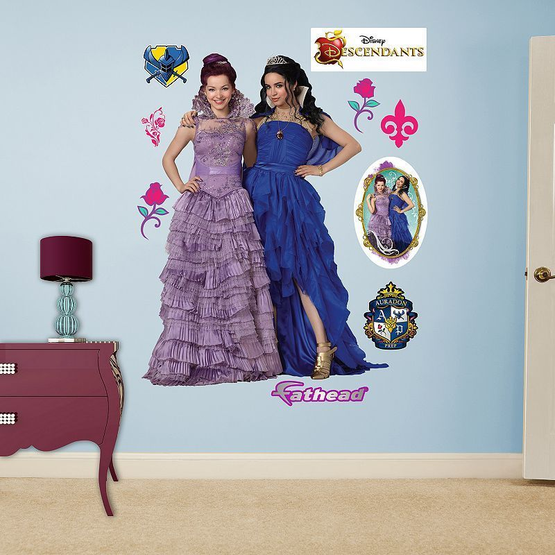 Disney S Descendants Mal Evie Coronation Wall Decals By Fathead Multicolor Disney Wall Decals Mal And Evie Disney Wall