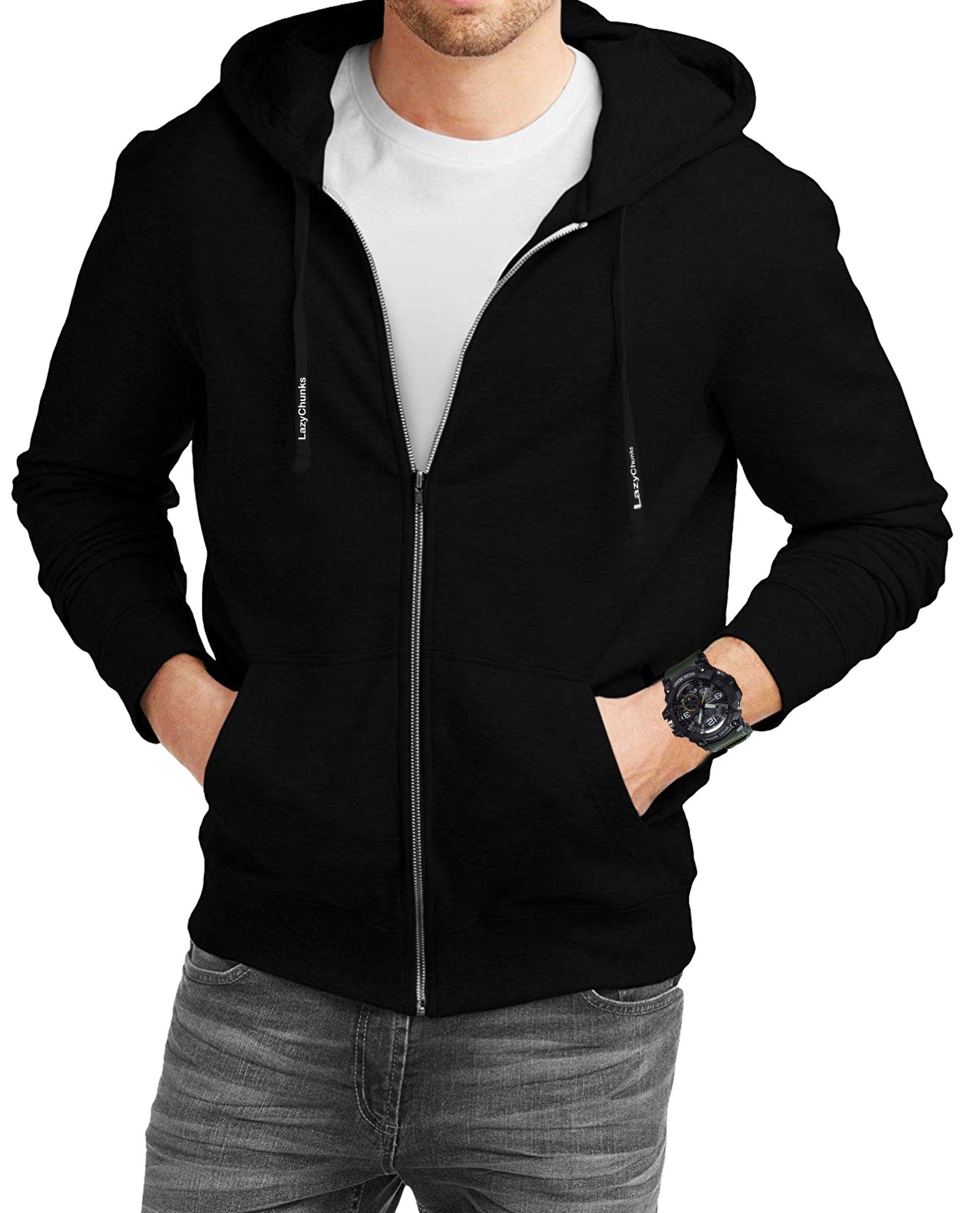 Men S Black Fleece Solid Long Sleeves Regular Hooded Sweatshirt Hooded Sweatshirts Black Fleece Sweatshirts [ 2462 x 1989 Pixel ]