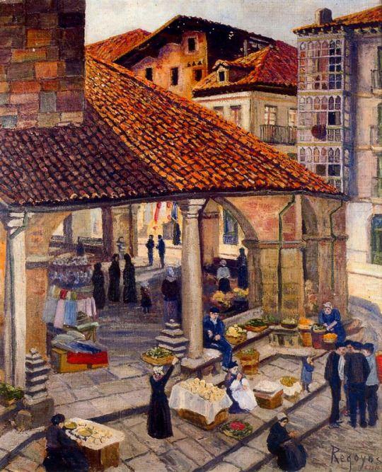 Market in Durango - Dario de Regoyos y Valdes 1907