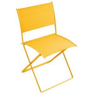 Plein Air By Fermob Chaise Pliante Miel Folding Chair Outdoor Dining Chairs Modern Outdoor Dining Chairs