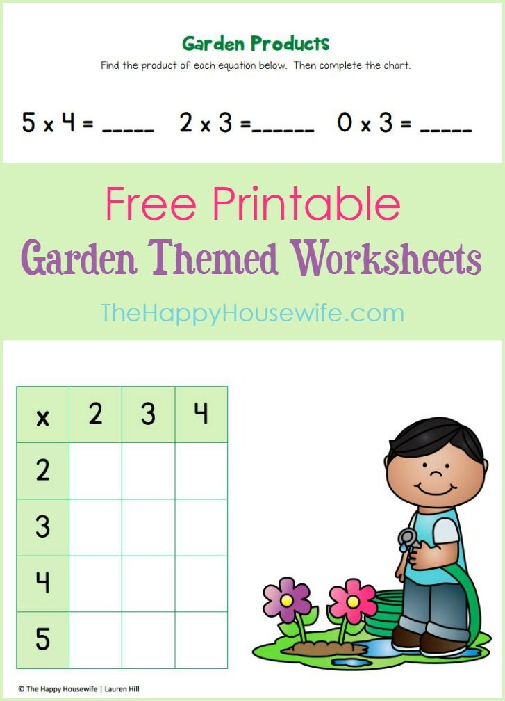 Garden Worksheets: Free Printables | Worksheets, Activities and ...