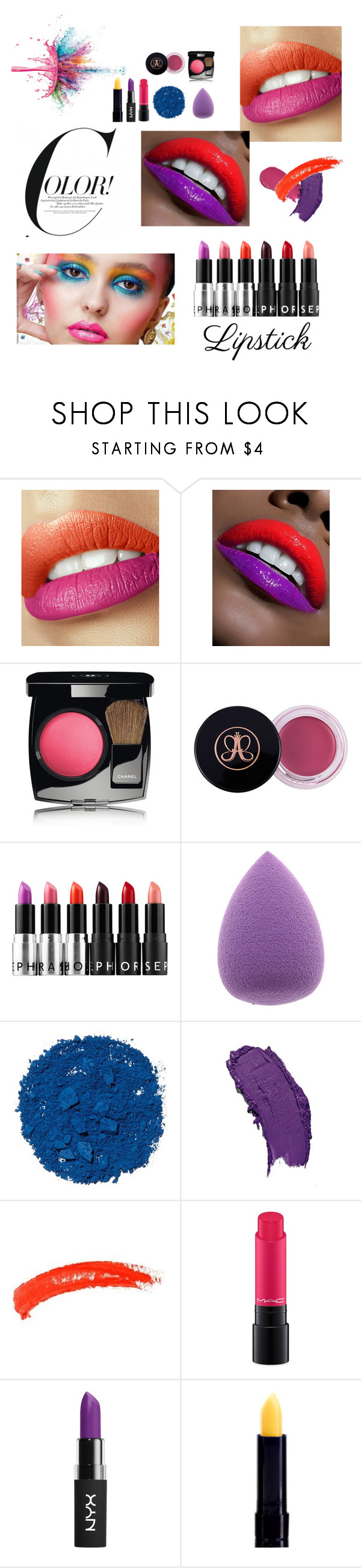 """""""#28"""" by andreafrausin ❤ liked on Polyvore featuring beauty, Chanel, Sephora Collection, Illamasqua, Lumene, Givenchy, Topshop, MAC Cosmetics and NYX"""