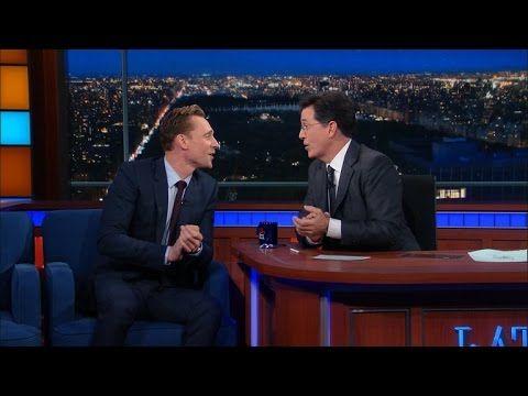 Tom Hiddleston and Stephen Colbert sing together | EW.com